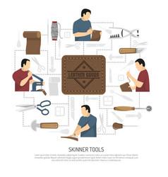 Skinner tools design concept vector