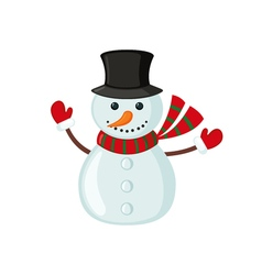 Snowman icon in flat style vector image vector image