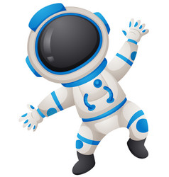 Spaceman in uniform on white background vector