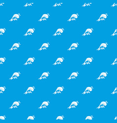 surf wave pattern seamless blue vector image