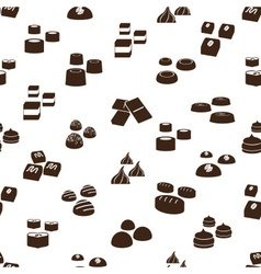 sweet chocolate truffles icons seamless pattern vector image vector image