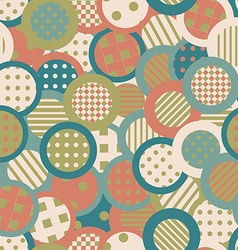 Vintage background with circles and round shapes vector image