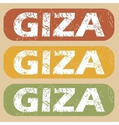 Vintage giza stamp set vector