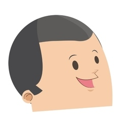 Cute face of happy man with grey hair icon vector