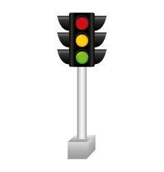 Semaphore traffic light isolated icon vector
