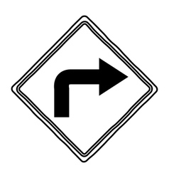 Isolated way road sign design vector