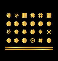 gold ornaments se vector image