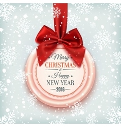 Merry christmas and happy new year badge vector