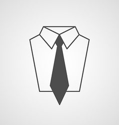Tie and shirt design icon business flat symbol vector