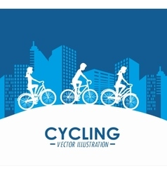Bicycle lifestyle design vector