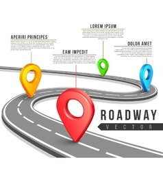 Street road map for business infographics vector image