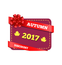 autumn 2017 sticker and icons vector image