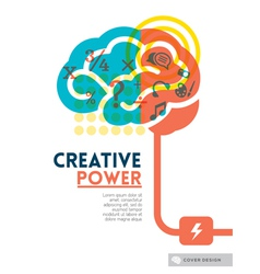 Creative brain idea concept vector