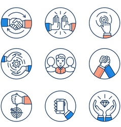 Customer relationship management icons vector