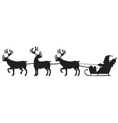 deer and santa vector image