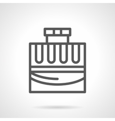 Fashionable cologne simple line icon vector