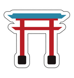 gate structure japanese image vector image