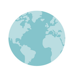 Globe world earth map round icon vector