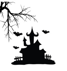Hallowen house vector