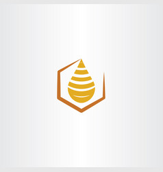 Honey drop logo icon vector