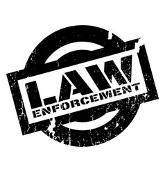 Law enforcement rubber stamp vector