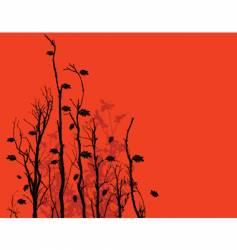 leafy branch vector image vector image
