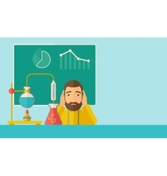 Science teacher in laboratory vector image