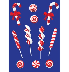 set of Christmas candy vector image
