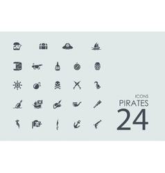 Set of pirates icons vector image