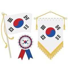 south korea flags vector image