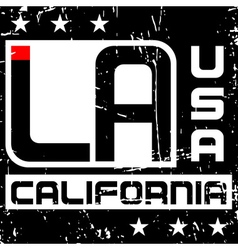 T shirt typography graphics Los Angeles California vector image
