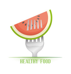 Watermelon healthy food diet vector