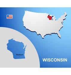 Wisconsin vector image vector image