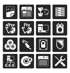 Black Server Side Computer icons vector image