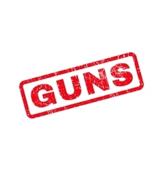 Guns text rubber stamp vector
