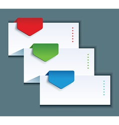 paper background with color arrows vector image