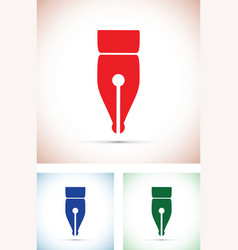 Colourful pen tip silhouettes vector