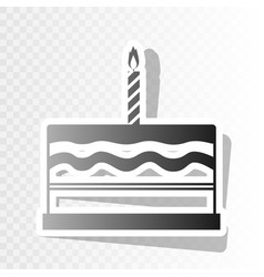 birthday cake sign  new year blackish icon vector image