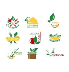 Vegetarian food symbols vector