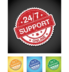 24 hour support vector image vector image