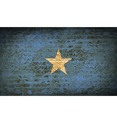 Flags somalia with dirty paper texture vector