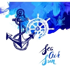 Travel marine background sea and ocean nautical vector