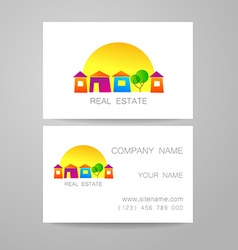 Real estate business card vector
