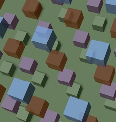 Background of transparent cubes vector