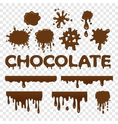 Chocolate splat collection vector