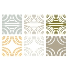 Set of abstract seamless handdrawn zenart swatches vector