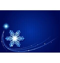 Blue christmas snowflake vector