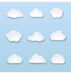 Abstract shape of clouds on blue background vector image