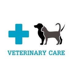 animals on vet symbol vector image vector image