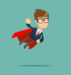 business hero or superhero flying vector image vector image